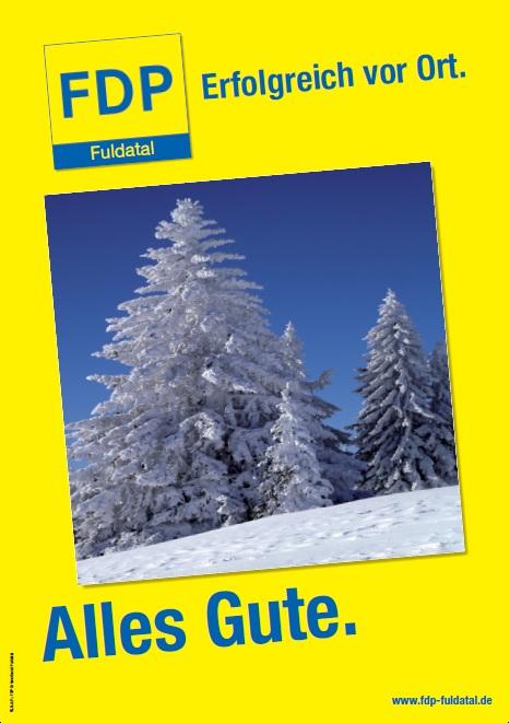 Silvesterbild in Die FDP in Fuldatal wünscht ihnen ein frohes Fest und alles gute für 2013!